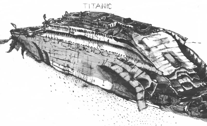 Titanic Wreck Drawing The Titanic Wreck