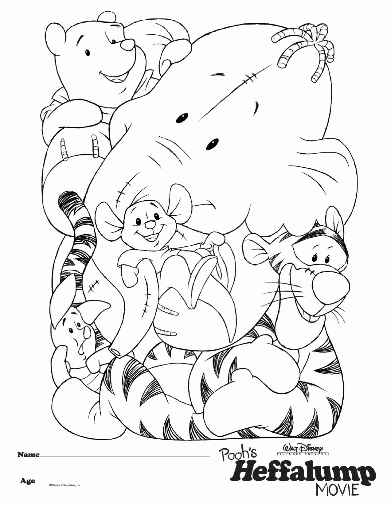 pooh heffalump coloring pages | A Heffalump And Roo Coloring Pages Coloring Pages